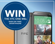 Win a HTC One M8s SIM Free. Answer the question along with your details to be in with a chance of winning.