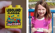 Children receive a free Legoland Florida brick when they tour the Lego Factory in Fun Town, and get a free paper drivers license when they complete the Ford Driving School.