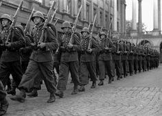 Warsaw,August 1939,Polish soldiers on parade.