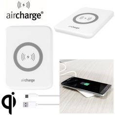 aircharge Slimline Qi Wireless Charging Pad - White - Wirelessly charge your Qi compatible smartphone or tablet with the aircharge Slimline Qi Wireless Charging Pad. Extremely discrete and portable, the Slimline enables you to easily charge wirelessly in any environment.