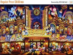 Tenyo Disney Dream Theater of Mickey Mouse, glow in the dark 2000 pcs. Gifts Online Today - sell Japan jigsaw puzzle, classic and out of print jigsaw puzzles to worldwide. Disney All Characters Collection - Japanese jigsaw puzzle from Japan. Disney Mickey, Disney Art, Disney Pixar, Mickey Mouse, Disney Toys, Disney Magic, Walt Disney Characters, Disney Movies, Movie Characters