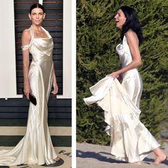 Liberty Ross repetiu seu vestido de noiva em uma festa da Vanity Fair  (Foto: Getty Images)