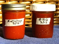 FODMAP-friendly ketchup and BBQ sauce.