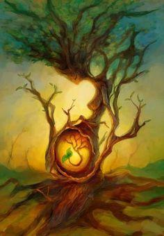 Mother Nature Drawings Tree Of Life 66 Best Ideas Fantasy Kunst, Fantasy Art, Birth Art, Pregnancy Art, Pregnancy Drawing, Pregnancy Goals, Early Pregnancy, Wow Art, Nature Tattoos
