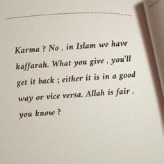 islam, karma, and allah image Beautiful Quran Quotes, Quran Quotes Love, Quran Quotes Inspirational, Karma Quotes, Reminder Quotes, Islamic Love Quotes, Self Reminder, Mood Quotes, Quotes On People