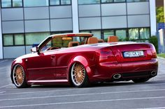 Audi A4 Cabrio – Das Frei-Luft-Gefährt in Candy Rot  http://www.autotuning.de/audi-a4-cabrio-das-frei-luft-gefaehrt-in-candy-rot/ Audi A4, Audi Cabrio, Candy Rot, RS 4, RS 5