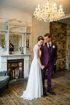 Groom & Groomsmen in Colour  - Purple Top Five Grooms & Groomsmen Trends for 2014