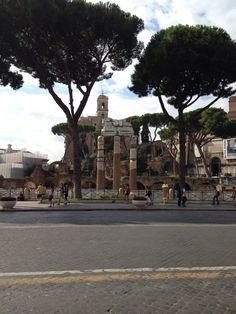 Via dei Fori Imperiali with #Bellitalia street furniture #marble arredo urbano - mobiliario urbano - mobilier urbain