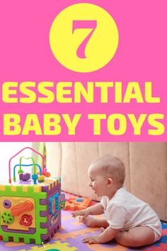 Essential Baby Toys for 0-6 Months: Toys from birth to 3 months should be simple! You don't need complicated toys for your newborn. These essential baby toys will help encourage developmental play which will help with cognitive, motor, and language skill building. Simple toys ideas for newborn babies to 6 months old. #Babies #Toys #Babyideas #Play #Babyplay #Parenting #Parentingtips #Newborns #Infants
