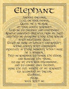 The Elephant Prayer poster celebrates the wisdom, gentle strength and majesty of the Elephant, whose example can help us forge forward into our lives, and whose guidance can teach us every day. Featur