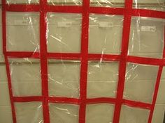 Ziplock bag quilt... for displaying student work!  Great idea!