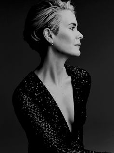 Sarah Paulson photographed for Glamour magazine.