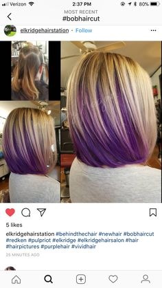 56 Ideas hair color highlights peekaboo blondes purple for 2019 Purple Blonde Hair, Hair Color Streaks, Brown Ombre Hair, Blonde Hair With Highlights, Hair Color Purple, Hair Color And Cut, Cool Hair Color, Purple Peekaboo Hair, Purple Peekaboo Highlights