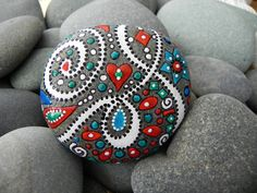 Happy Galaxy / Greek River Rock by LoveFromCapeCod on Etsy, $40.00