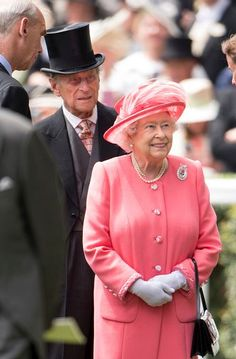 Queen Elizabeth II and Prince Philip, Duke of Edinburgh attend day 4 of Royal Ascot at Ascot Racecourse on June 17, 2016 in Ascot, England.