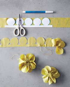 Freshly cut flowers are always nice -- but fabric flowers can be cherished for years to come.