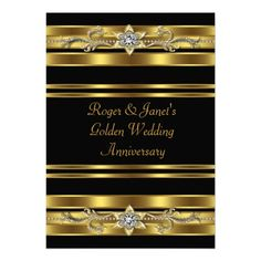 Custom Gold Diamonds Elegant Wedding Anniversary Custom Invitation created by InvitationCentral. This invitation design is available on many paper types and is completely custom printed. 50th Wedding Anniversary Invitations, 50th Birthday Party Invitations, Golden Wedding Anniversary, Gold Wedding Invitations, Anniversary Parties, Custom Invitations, 50th Anniversary, Elegant Invitations, Invitation Design
