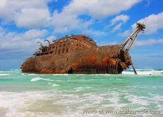 The Garthpool wrecked on a reef in November 1929 Santa Maria Cape Verde, Cape Verde Sal, Kuwait National Day, Richmond California, Cap Vert, Mysteries Of The World, Destinations, Abandoned Ships, Verde Island