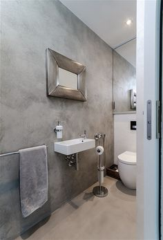 Cement Walls Concrete Bathroom Faux Attic Rooms Downstairs