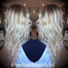 Blonde hair with a dirty root | stretched root | shadow root | @melsmithhairstylist