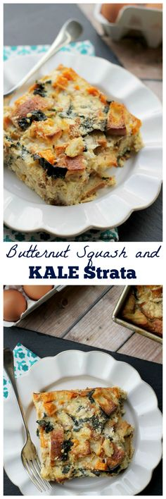 This strata is the breakfast of champions with its kale, butternut squash, and creamy bechamel base.