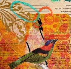 Collage on panel by Liz Carlson Arts and Illustration, 2015