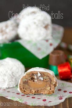 Rolo Stuffed Chocolate Snowballs   crazyforcrust.com