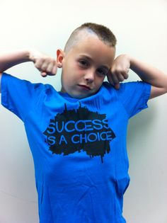 Young John, sporting his Success is a choice shirt from Inspyr Apparel. Great quote on the back as well.