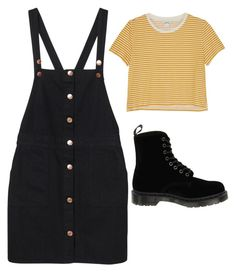 """Untitled #141"" by aviva8228 ❤ liked on Polyvore featuring Monki and Dr. Martens"