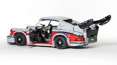 Lego Porsche 911 Carrera RSR Turbo by Malte Dorowski. More lego here. Lego Cars, Lego Auto, Lego Wheels, Porsche 911 Rsr, Martini Racing, Lego Modular, Cool Lego, Awesome Lego, Lego Design