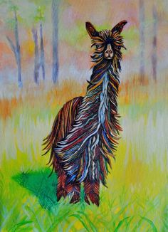 An inspiring painting of alpaca fiber