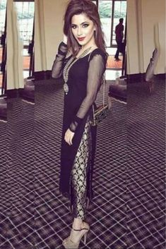 Georgette Party Wear Straight Suit in Black Colour.It comes with matching Dupatta and Bottom.It is crafted with Embroidery...