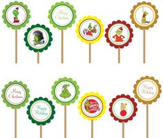 Alternate idea for cupcakes: use these as toppers