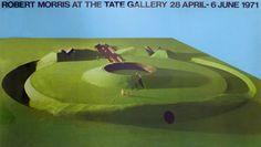 Robert Morris, Observatory Earthwork - Project for Sonsbeek 71, Arnhem, 1971, photo-lithograph.