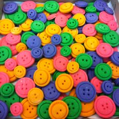 Button cookies for Lalaloopsy party