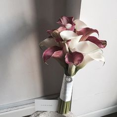 Small Flower Arrangements Wedding Bridal Bouquets – Famous Last Words Hand Bouquet Wedding, Calla Lily Bouquet, Bridal Bouquet Fall, Purple Bouquets, Purple Wedding Flowers, Bridal Flowers, Bridesmaid Bouquet, Wedding Bouquets, Small Flower Bouquet
