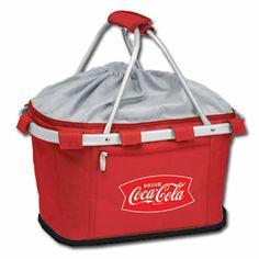 Red Insulated Coca-Cola Metro Picnic Basket