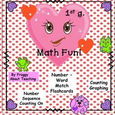 Valentine Math Activities by Froggy About Teaching Fun Math Activities, Teaching Resources, Teaching Ideas, Classroom Resources, Holiday Activities, Math Story Problems, Math Workshop, Teaching Math, Elementary Teaching