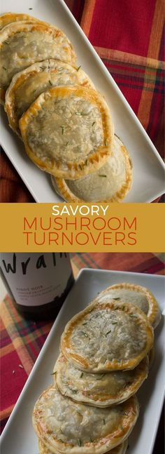 These savory mushroom turnovers are the perfect appetizer to welcome holiday guests into your home with. insolenceandwine.com