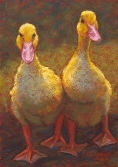 """Walking Out Together"" - Original Fine Art for Sale - © Rita Kirkman soft pastel painting Painting & Drawing, Watercolor Paintings, Pastel Paintings, Watercolour, Art Canard, Duck Art, Farm Art, Guache, Pastel Art"