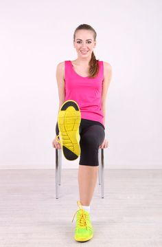 Next time you're wanting to mix up your routine, incorporate a chair into your workout for more of a challenge.