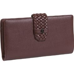 Buy the Buxton Hailey-Super Wallet at eBags - A braided tab closure adds a stylish touch to this multi compartment wallet from Buxton. The Buxton Checkbook Cover, Clutch Wallet, Continental Wallet, Purses, Brown, Leather, Stuff To Buy, Accessories, Wallets