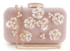 Yuenjoy Womens Glitter Floral Rhinestone Beaded Evening Bags Wedding Clutch Purse *** Click image to review more details.