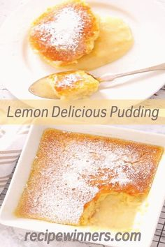 #Lemon #pudding #cake #delicious #gorgeous Lemon Delicious Pudding is quick to prepare and tastes fabulous eaten hot or cold What we love about this recipe is the sponge layer keeps that freshly baked soft crumb even after refrigeration and the gorgeous lemon curd is a taste explosionbrp classfirstletterwelcome to our siteScroll down for further prepare adequate subjectpIf you use this pin where private size is required the width and height of the pin will also be very important to you… Desserts Rafraîchissants, Lemon Dessert Recipes, Pudding Desserts, Lemon Recipes, Gourmet Recipes, Baking Recipes, Sweet Recipes, Delicious Desserts, Cake Recipes