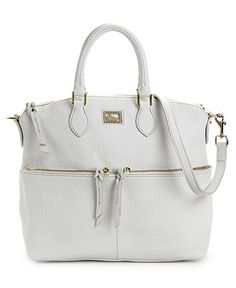 White-hot! Dooney & Bourke Dillen Pocket Satchel #bag #purse #leather BUY NOW!