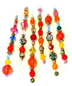Perfect christmas activity- I have soooo many beads lying around!
