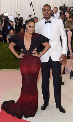 """All that time paid off for the Anthonys. La La Anthony had been planning for the Met Gala """"about a month in advance,"""" she told HELLO!. And when the big day finally arrived, the TV personality admitted, """"I've been getting ready all day. I started early this morning. He [husband Carmelo] took 10 minutes. I've been getting ready all day."""" As for whether her NBA hubby helps her out when it's time to get prep, she revealed, """"He does."""""""