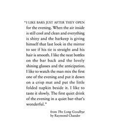 The Long Goodbye by Raymond Chandler.