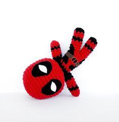 Deadpool Crochet Pattern Instant Download by RoseberryArts