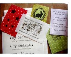 Comment imprimer sur du tissu ! (attention, résultat non lavable) Génial pour les cartes / étiquettes de cadeaux.